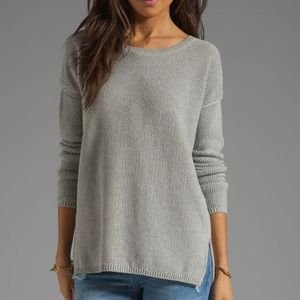 Vince Seed Stitch Cashmere Blend Crew Neck Sweater